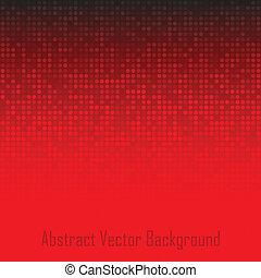 astratto, tecnologia, sfondo rosso