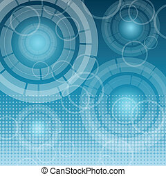 astratto, tecnologia, su, sfondo blu