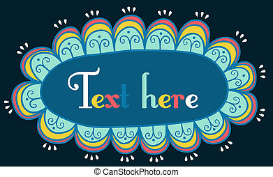 astratto, text., cornice, tuo