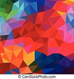 astratto, triangolo, fondo