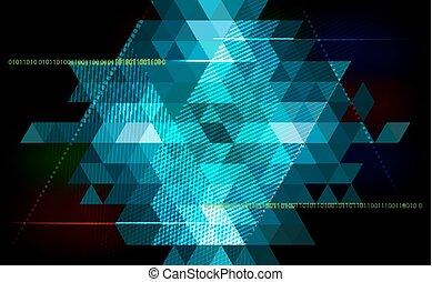 astratto, triangolo, fondo, -, tecnologia, scienza, programmazione