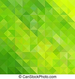 astratto, triangolo verde, fondo