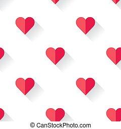 astratto, valentines, cuore, pattern.