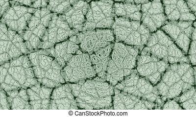 astratto, verde bianco, fondo, crepa