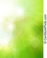 astratto, verde, bokeh, fondo