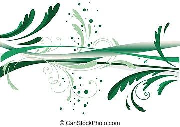 astratto, verde, disegno