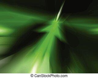 astratto, verde, freccia, fondo, vec