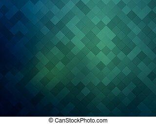 astratto, verde, mosaico, fondo