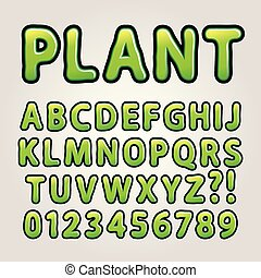 astratto, verde, natura, alfabeto