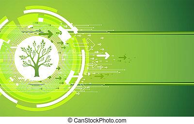 astratto, verde, natura, fondo