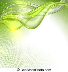 astratto, verde, ondeggiare, fondo