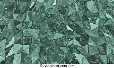 astratto, vetro, fondo., 3d, render, polygonal, surface., cappio, fondo
