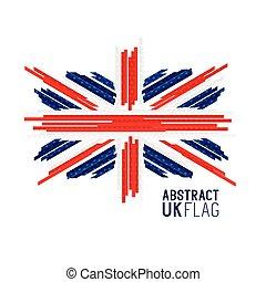 astratto, vettore, bandiera, regno unito