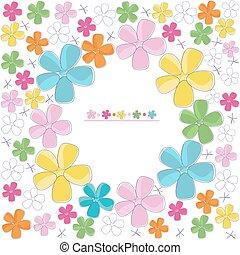 astratto, vettore, colorito, fiore, fondo