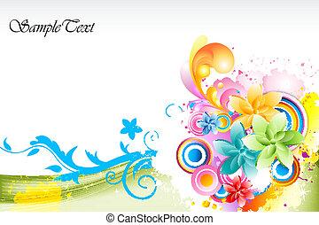 astratto, vettore, colorito, fondo