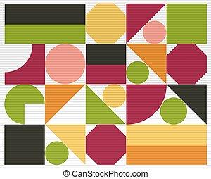 astratto, vettore, colorito, geometrico, fondo