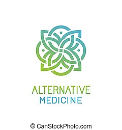 astratto, vettore, disegno, sagoma, medicina, logotipo, alternativa