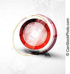 astratto, vettore, fondo, cerchio, techno