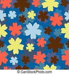 astratto, vettore, fondo, flowers., colorito