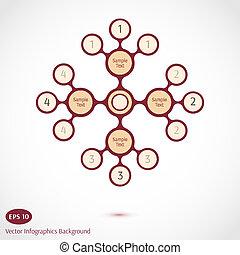 astratto, vettore, fondo, infographics
