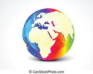 astratto, vettore, globo, colorito