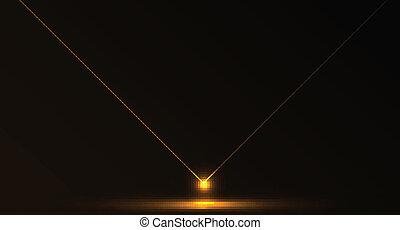 astratto, vettore, laser, fondo