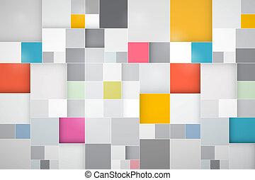 astratto, vettore, quadrato, colorito, fondo