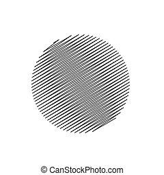 astratto, vettore, scarabocchio, cerchio, fondo