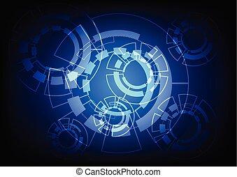 astratto, vettore, tecnologia, concept., fondo