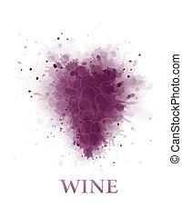astratto, vino uva