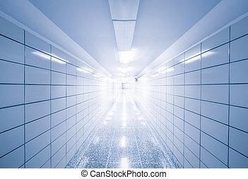 astratto, vista, di, vuoto, corridoio, con, geometrico, linee