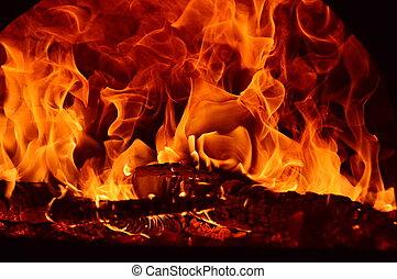 astrazione, fuoco