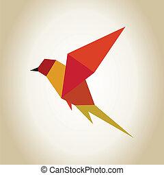 astrazione, uccello