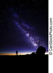 Astro Photographer - Photographer doing astro photography in...