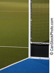 Astro Turf Hockey Field - Abstract view of hockey goals on...