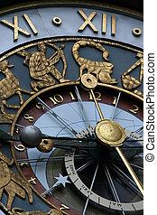 astrológico, relógio