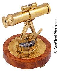 astrolabe, aanzicht, decoratief, back