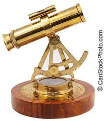 astrolabe, zijaanzicht, decoratief