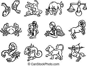 astrología, zodíaco, horóscopo, señales