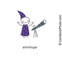 Astrologer. Illustration.