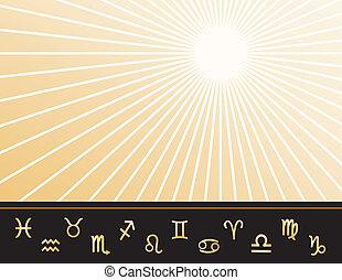 astrologi, affisch