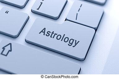 astrologia, bottone, computer, parola, tastiera