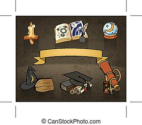 astrologia, doodles
