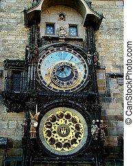Astrological clock - Digital photo of the astrological clock...