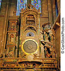 Astrological clock in Strasbourg Cathedral.