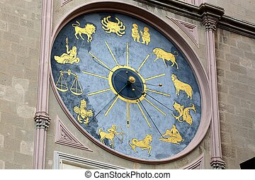 astrological clock Messina Italy