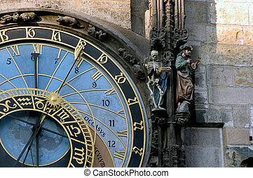 astrological clock - Prague Zodiac tower clock