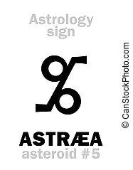 astrology:, 小惑星, astraea