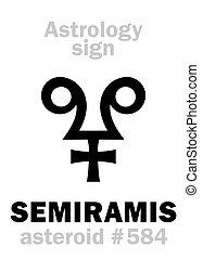 astrology:, 小惑星, semiramis