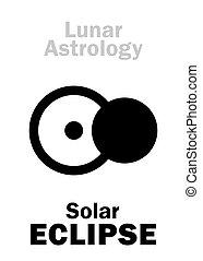 astrology:, 食, 太陽